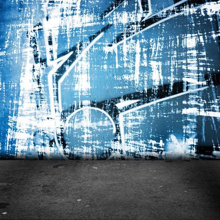 Achtergrond van de de graffitimuur van de straatkunst, stedelijk grungeontwerp