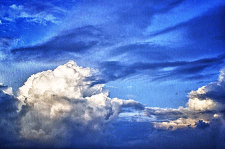 agressive: Storm Sky. Beautiful Cloudscape overlaid. image from paper texture background series