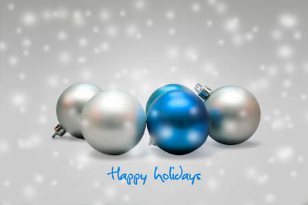 Blue and silver christmas decoration