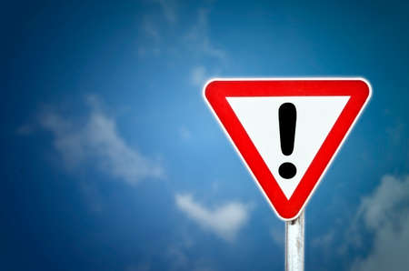 Attention sign with exclamation mark symbol