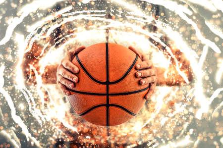 농구 배경입니다. 삽화. 스톡 콘텐츠