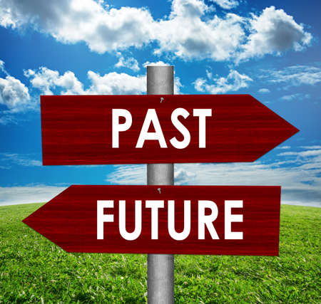 Future and Past road signs