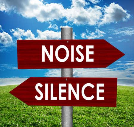 騒音道路標識と沈黙