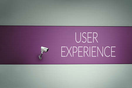 centered: User experience text on wall