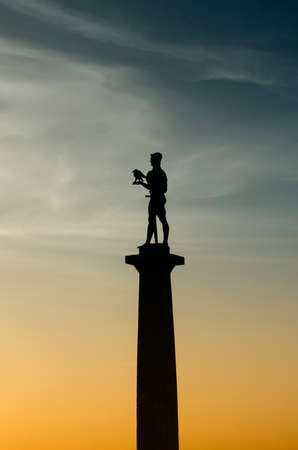 Silhouette of Belgrade victorious - winner