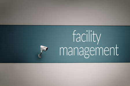 customer records: Facility management concept Stock Photo