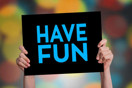 advice: Have Fun Card with Bokeh Background