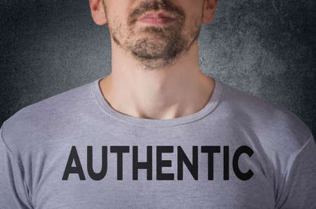 incorruptible: Authentic tittle on gray t-shirt front view Stock Photo