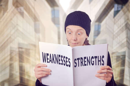 Swot Analysis Strengths Weakness Concept Stock Photo