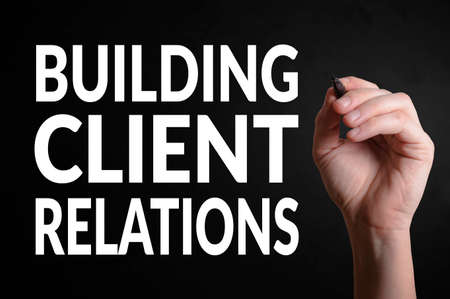 strategic focus: Hand writing the text: Building client relations