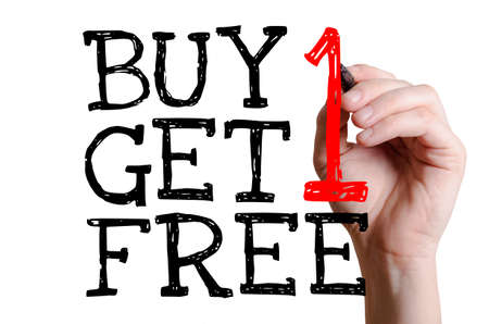 Buy 1 Get 1 Free Stock Photo