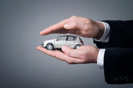 Professional car insurance solution for the best protection. Car (automobile) insurance and collision damage waiver concepts.