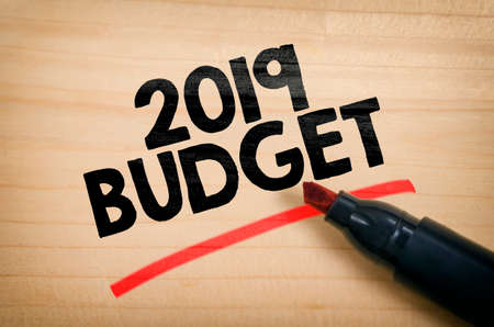 Business concept 2019 budget for new business. Stock Photo