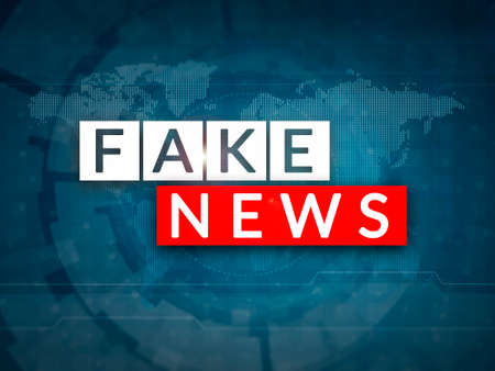 Fake news television broadcast screen illustration. Fake news and misinformation concept.