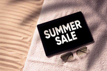Summer Sale Online Shopping Concept