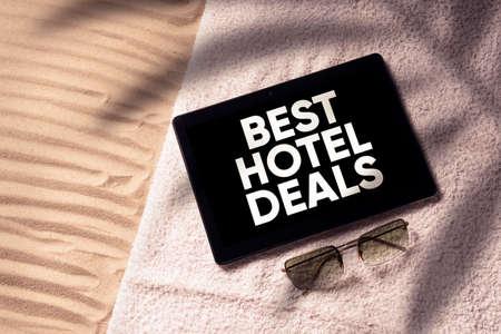 Best hotel deals concept