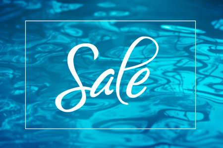 Summer sale banner with blue water background Reklamní fotografie
