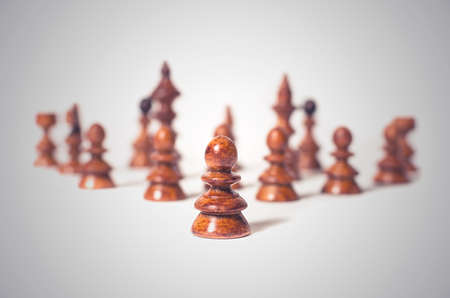 Business concept for leadership with chess pieces