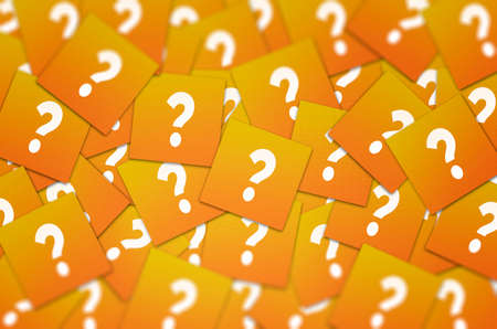 Question mark background. Concept for confusion, question or solution.