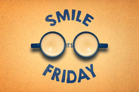 Smile Its Friday - Weekend is Coming Background With Funny Face
