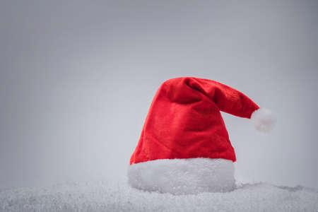 Santa hat close up. Christmas and New Year decoration.