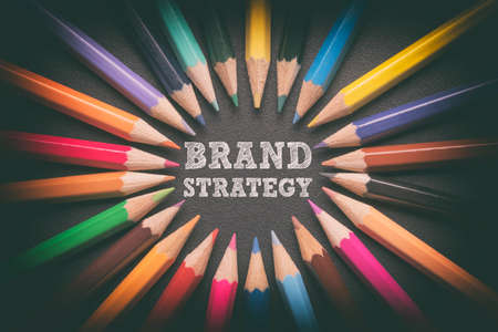 Brand advertising marketing strategy identity business concept