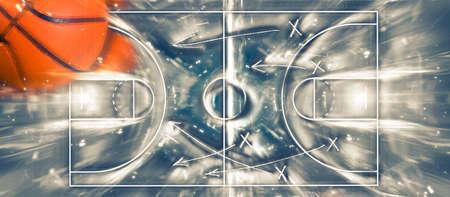Basketball banner background. Abstract basketball background. Illustration.