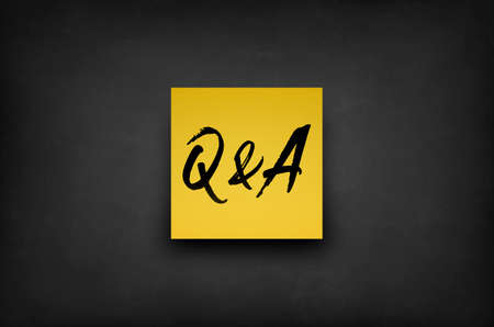 Questions and Answers sticky note