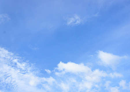 clear sky: Clear blue sky with white cloud Stock Photo
