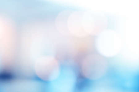 Blue bokeh light background. Blur background for web design or template.