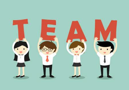 Business concept, Teamwork concept. illustration.
