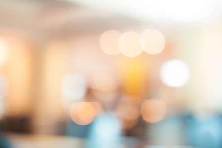 Blur background at restaurant with vintage tone