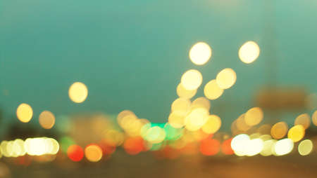 abstract city: Retro and vintage blur or bokeh traffic light. Vintage background for web design.