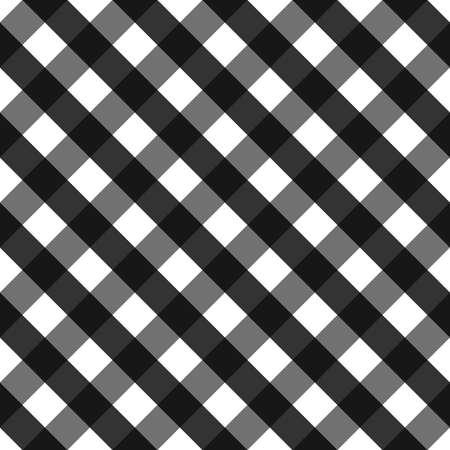 gingham: Black seamless pattern, black gingham background. Illustration