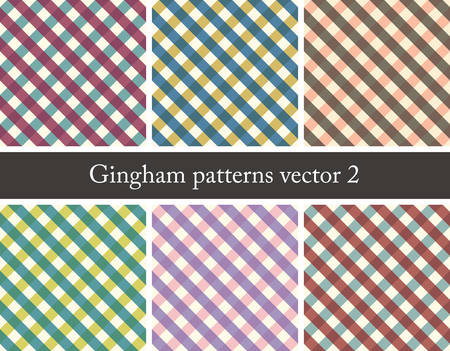 checkerboard backdrop: set of seamless gingham patterns Illustration