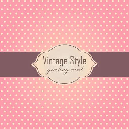 pink brown: Pink vintage style label frame. Vector illustration. Illustration