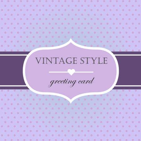 black and silver: Violet vintage style label frame. Vector illustration. Illustration