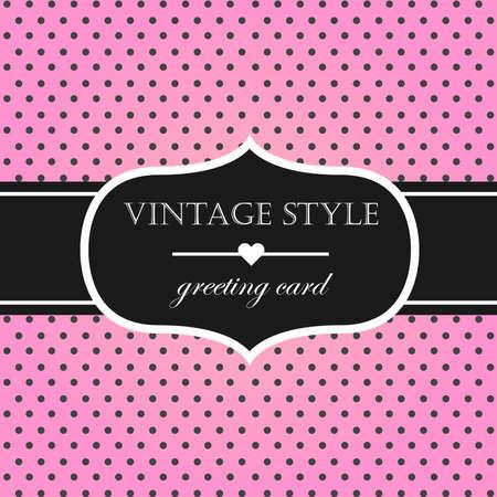 pink vintage: Pink vintage style label frame. Vector illustration. Illustration
