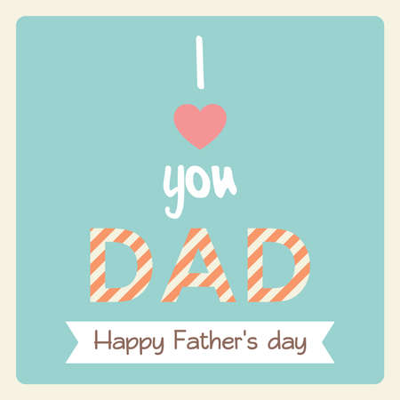 pastel tone: Happy fathers day card in vintage style and pastel tone. Vector illustrator.
