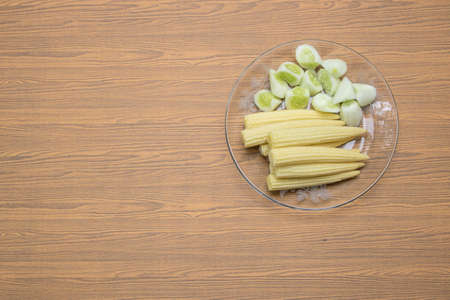 Vegetables and on wooden background Stock Photo