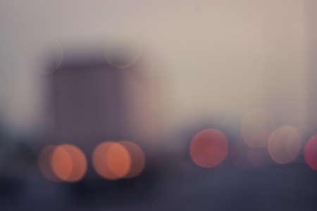 Defocused  blur traffic road with bokeh light. Stock Photo