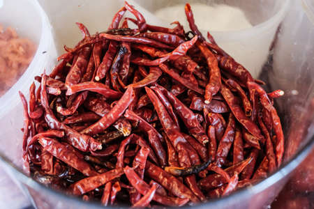 Dried red chilli, can use for spicy and hot flavour.