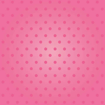 Seamless pink polka dot background, girly concept. 일러스트