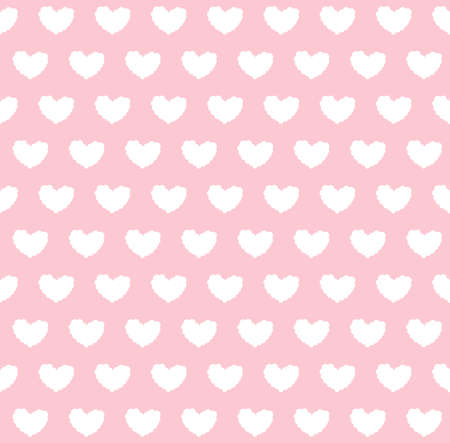 Seamless pattern with cloud hearts in pink background.Vector illustration 일러스트