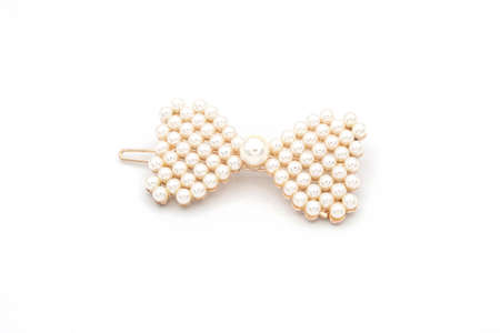 Luxury hair clip on white isolated background.