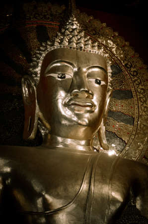 buddha face in watphasing Changmai Thailand photo