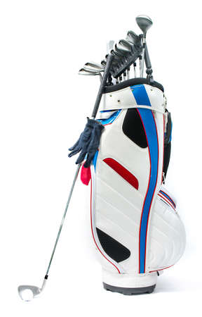 High quality studio photogrphy of golf equipment isolated on white background Stock Photo