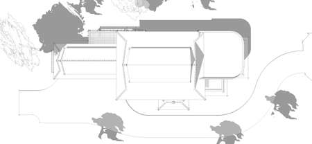 model of a house, Asian-style two layers house draft. photo