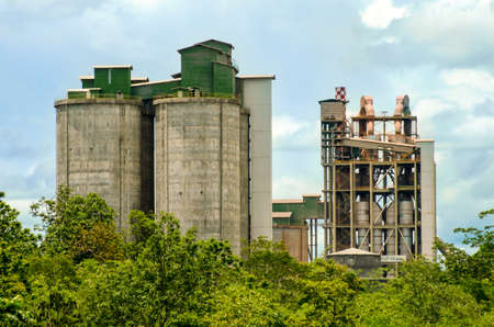 Cement Plant , An industrial cement processing facility. photo