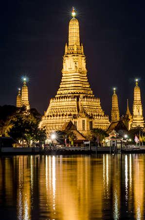 phraya: wat arun at night, Chao Phraya Riverside.